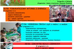 półkolonie lato 2018 plakat fota